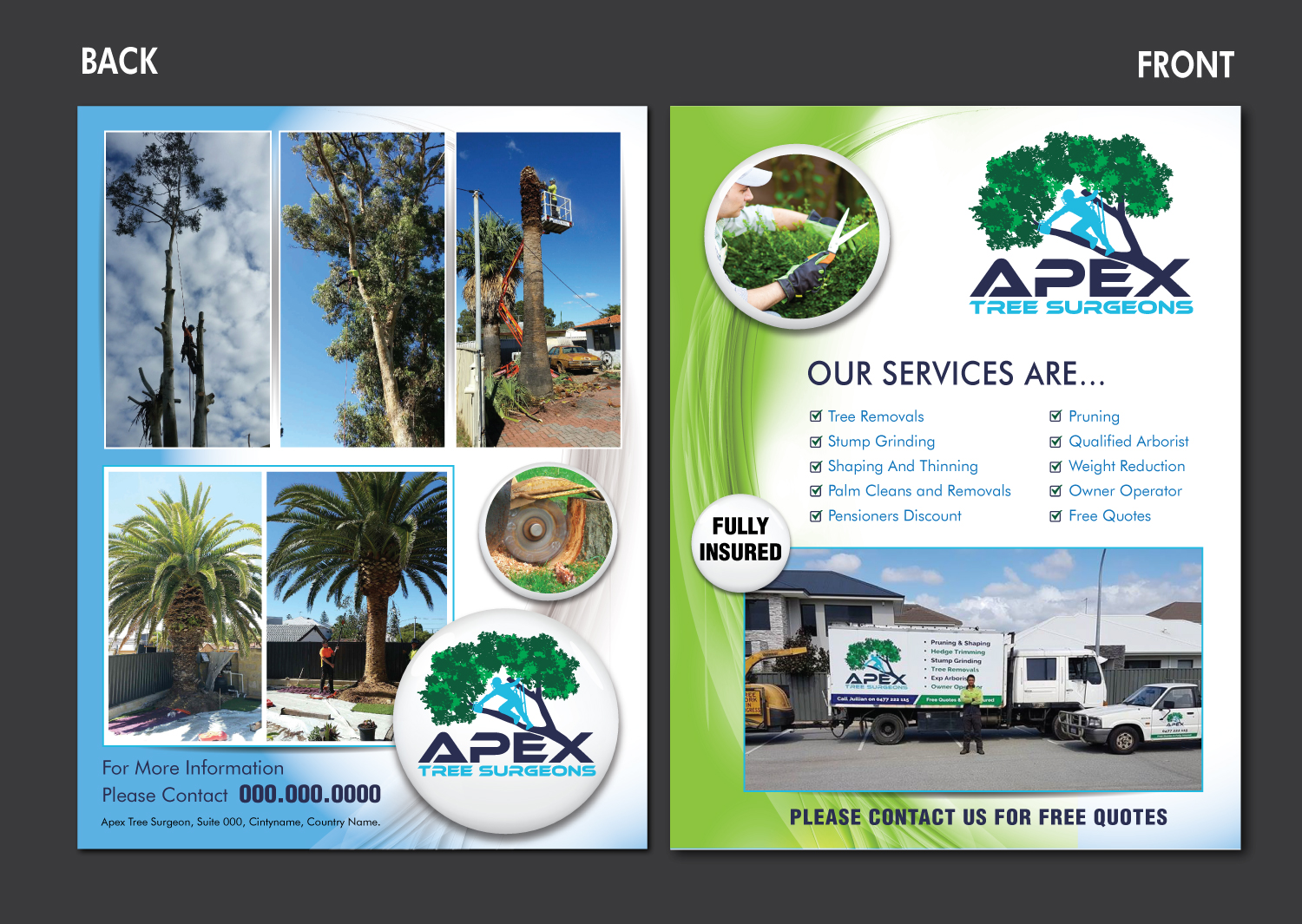 Elegant Playful It Company Flyer Design For Apex Tree Surgeons By Meet007 Design 12156122