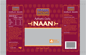 Packaging Design by Griet - Classic Indian Roti/Naan bread packaging for Au...