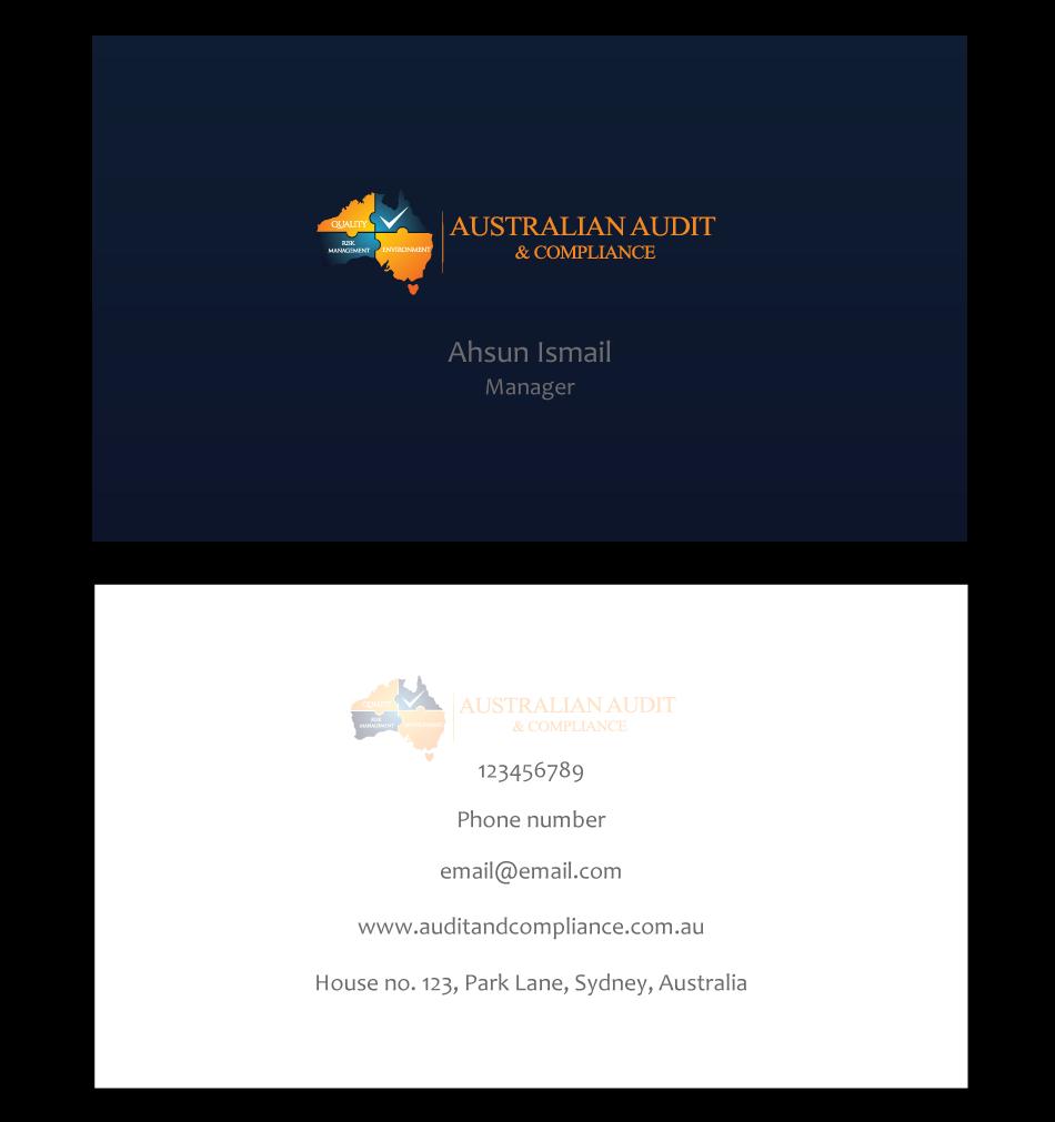 Modern, Professional, Business Business Card Design for Australian ...
