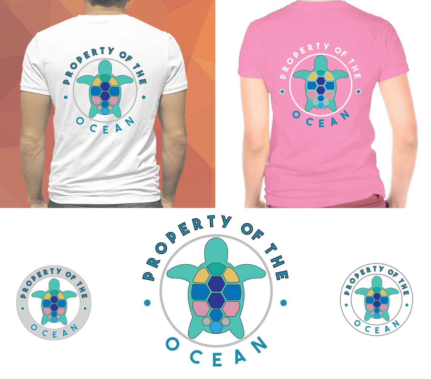 Playful Colorful Clothing T Shirt Design For Florida Sea Turtle