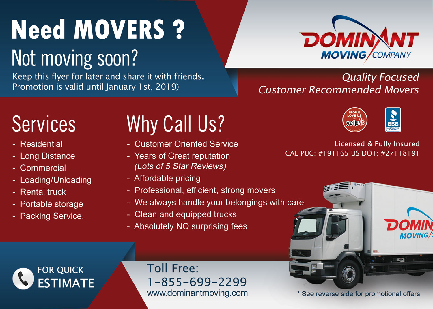 flyer design by jyotsna for dominant moving systems design 12187339