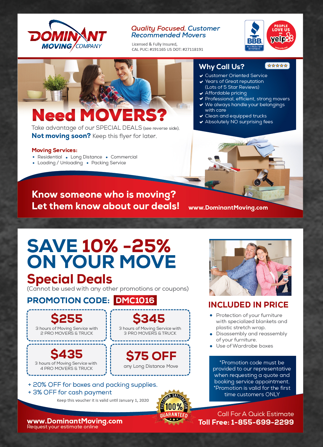 flyer design by achiver for dominant moving systems design 13579116