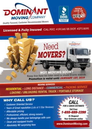 Flyer Moving Companies Carnavaljmsmusicco - Moving company flyer template