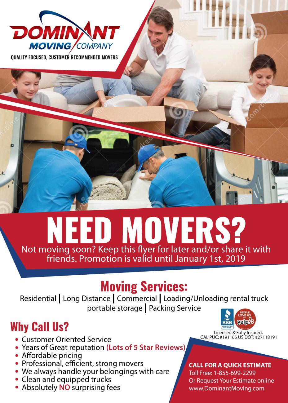moving company flyer