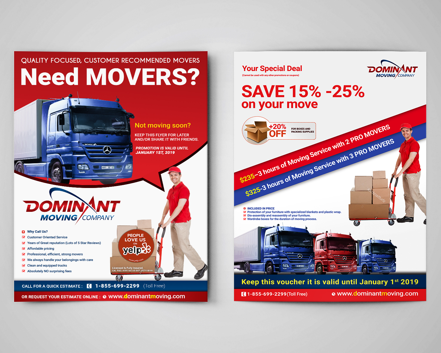 flyer design by sd webcreation for dominant moving systems design 12196121
