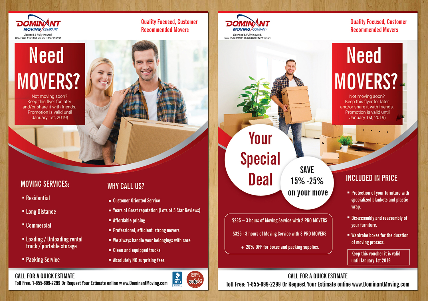 flyer design by designanddevelopment for dominant moving systems design 12130614