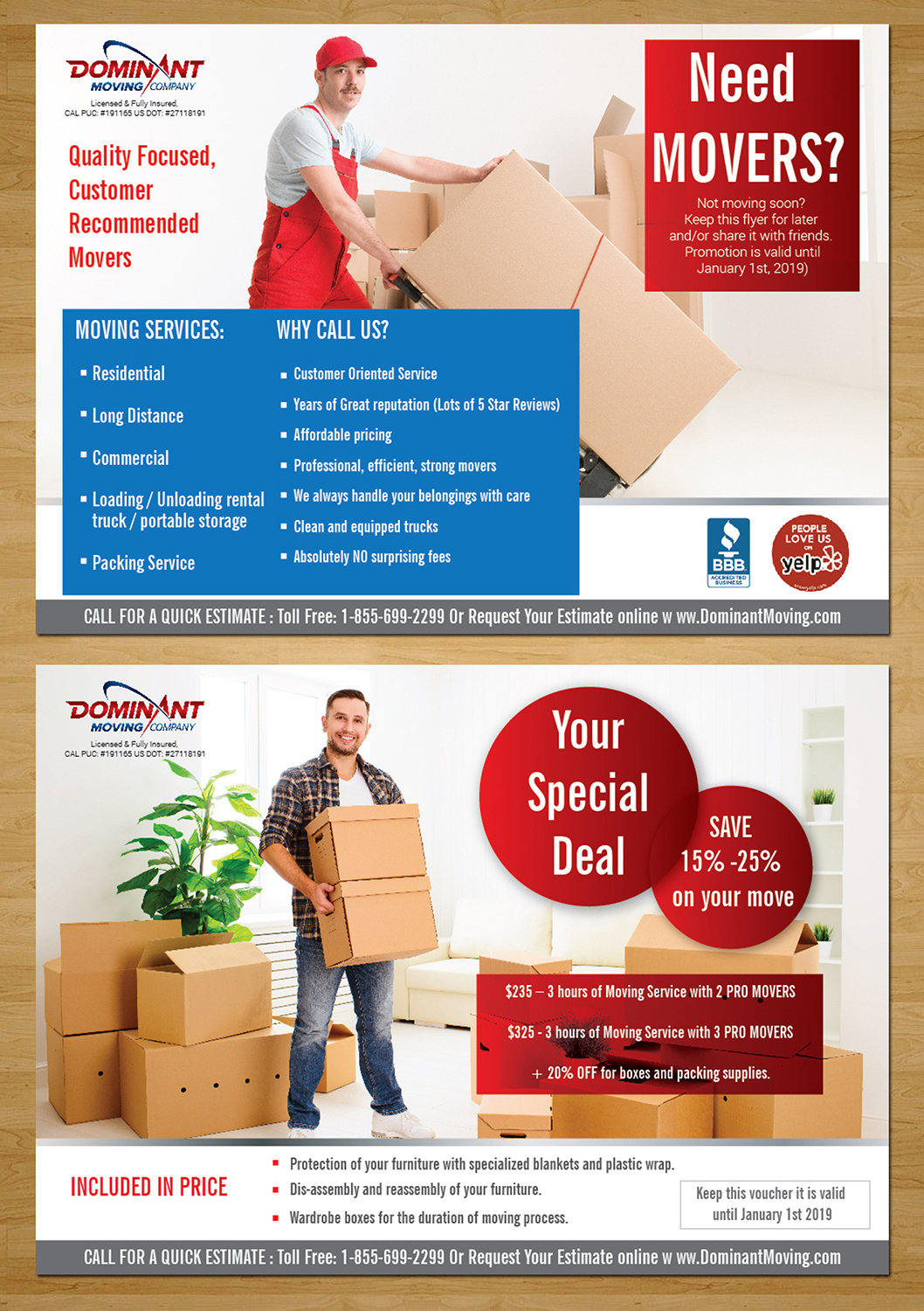 flyer design by designanddevelopment for dominant moving systems design 12130615