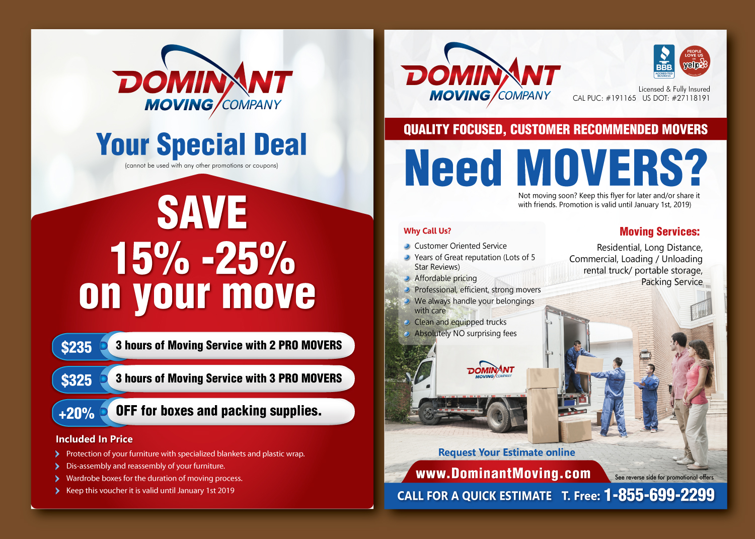 moving companies advertising flyers