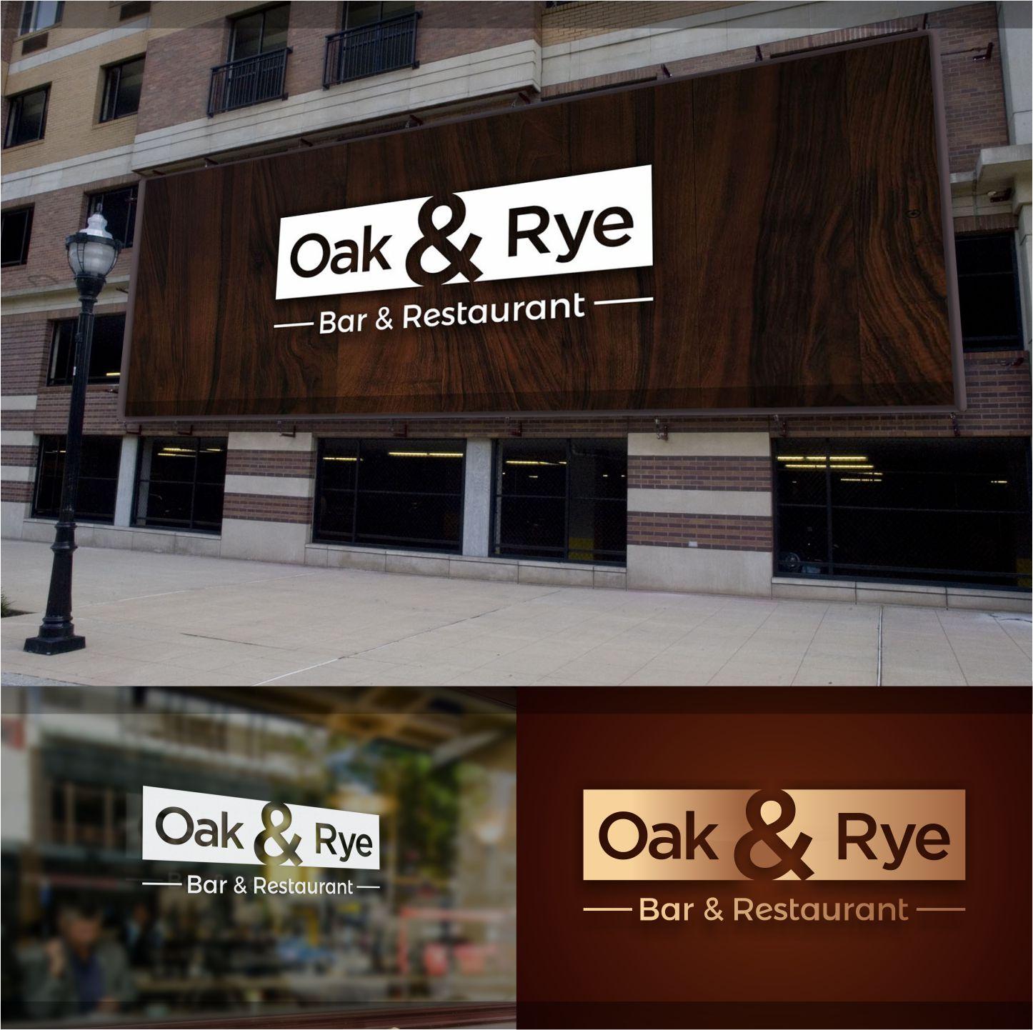 Bold Modern Restaurant Logo Design For Oak Rye Or Oak And Rye By Graphic Media Design 12212890