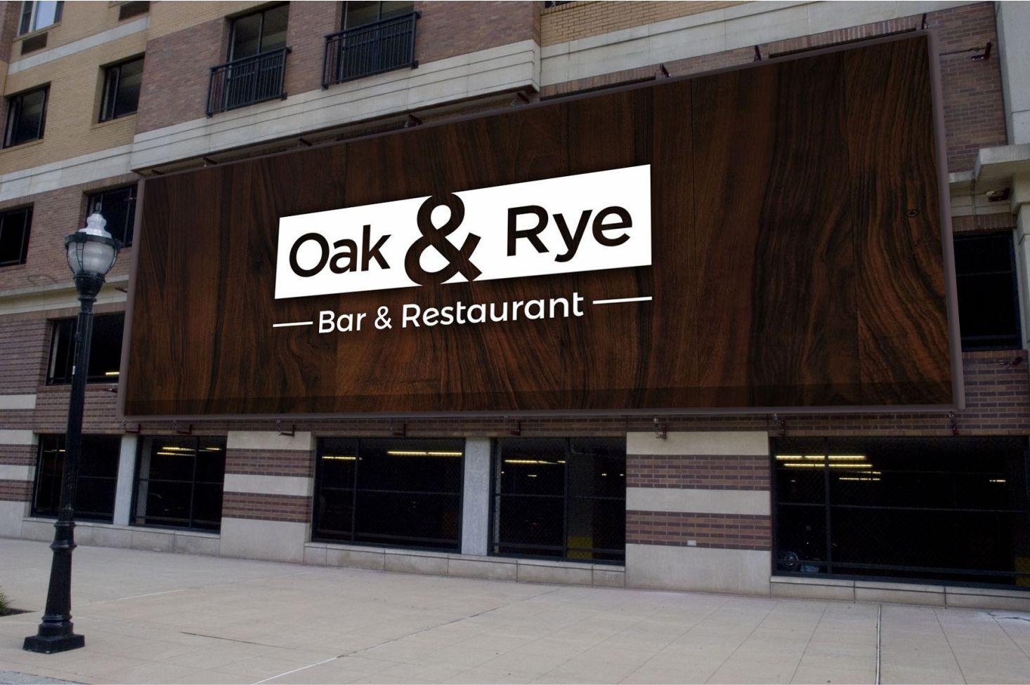 Bold Modern Restaurant Logo Design For Oak Rye Or Oak And Rye By Graphic Media Design 12212891