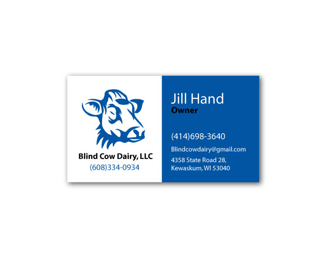 Professional serious business card design for jill hand by gareer business card design by gareer saleh for blind cow dairy business cards design 12135411 colourmoves