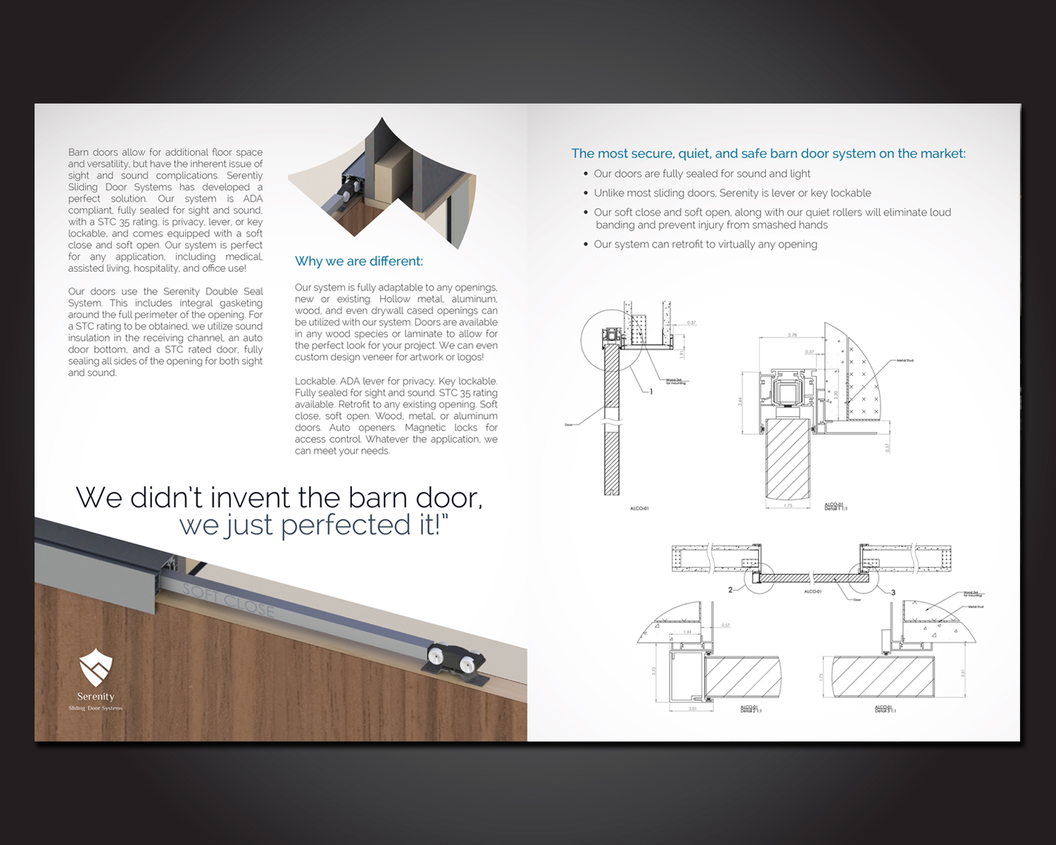 Traditional Bold Construction Company Brochure Design For Serenity