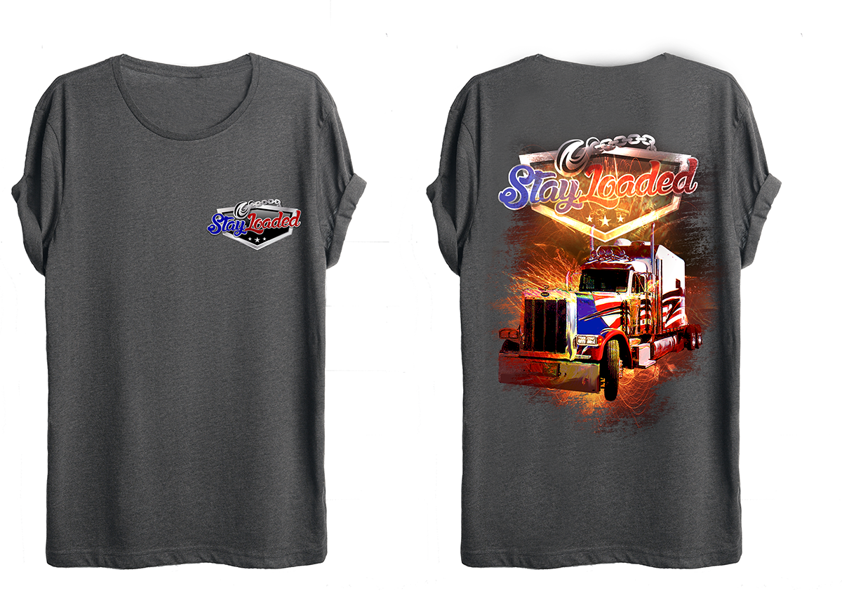 t shirt design by awehh for cool eye catching shirt for truck company design - Company T Shirt Design Ideas