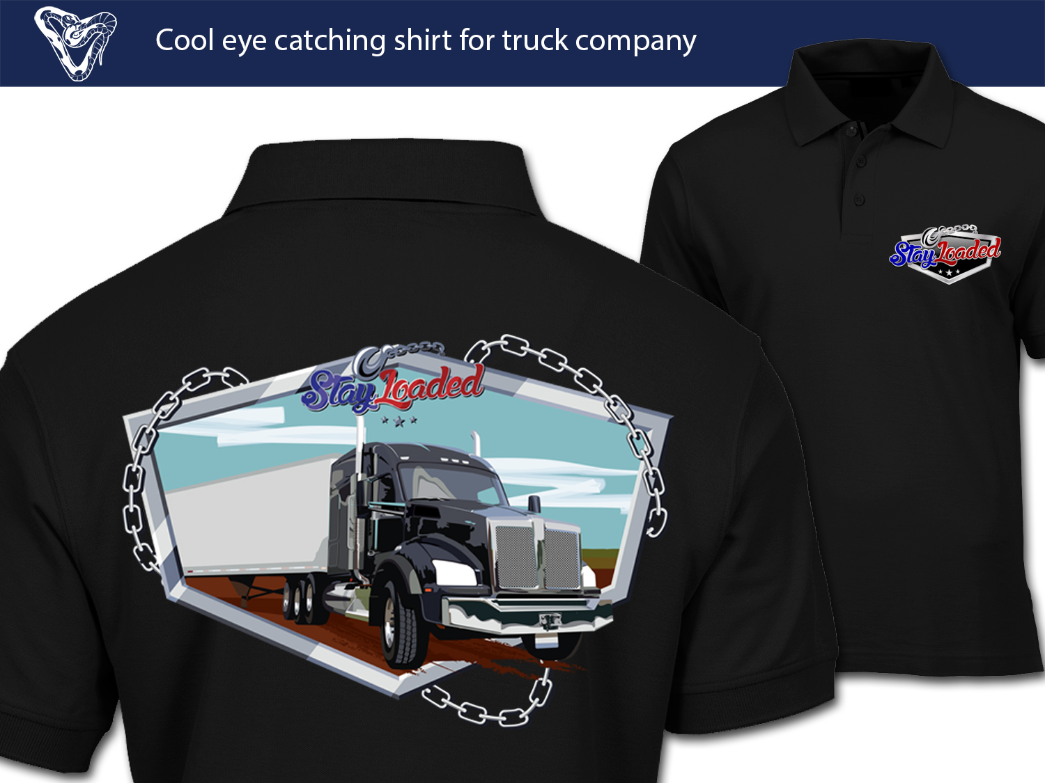 Masculine Bold Trucking Company T Shirt Design For A Company By