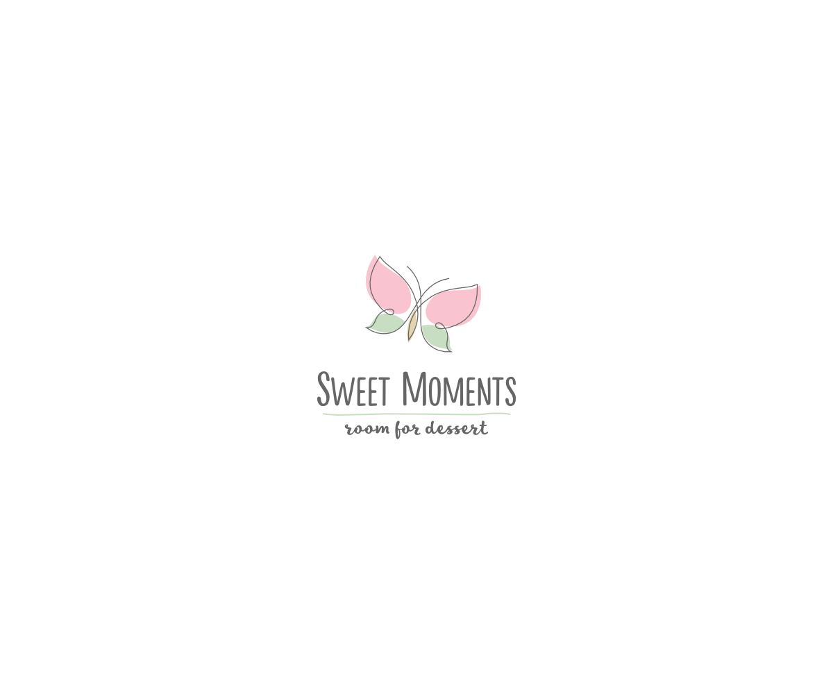 Elegant and Soft Butterfly Logo by VGB for a Desserts Café