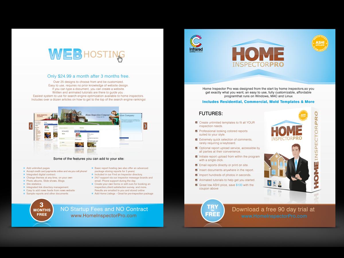 masculine conservative advertising flyer design for home inspector