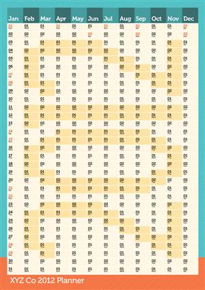 Calendar Design by Debs