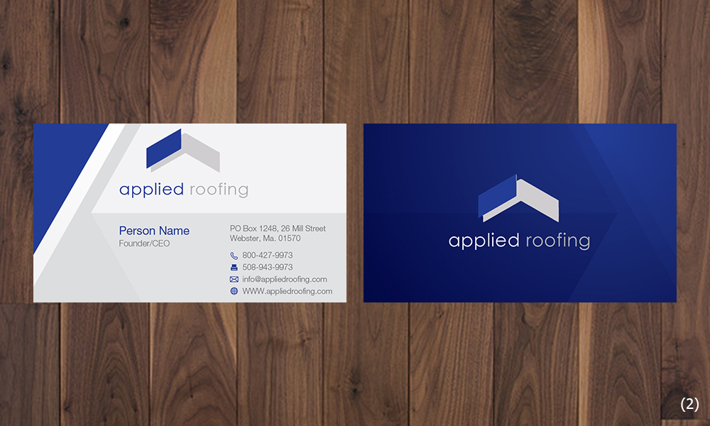 Modern Professional Roofing Business Card Design For