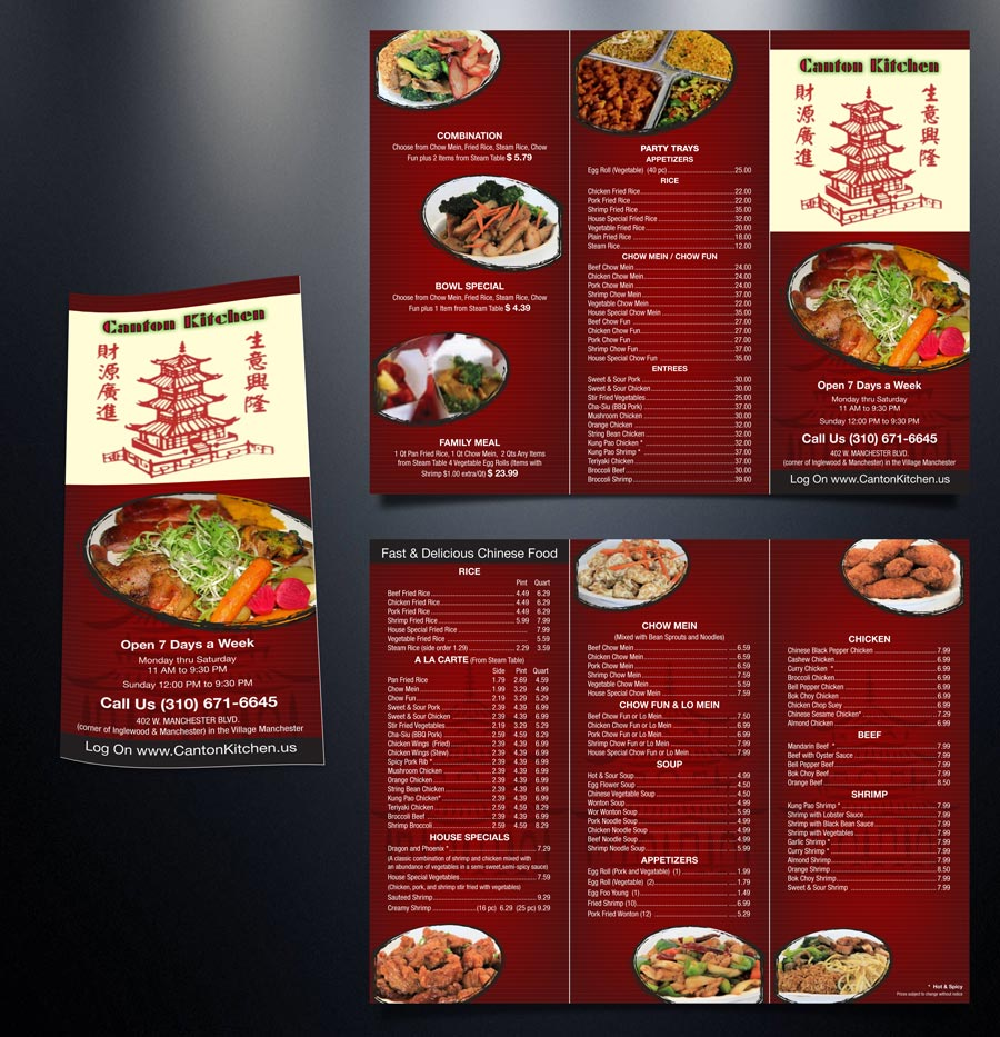 elegant playful fast food restaurant menu design for a company by