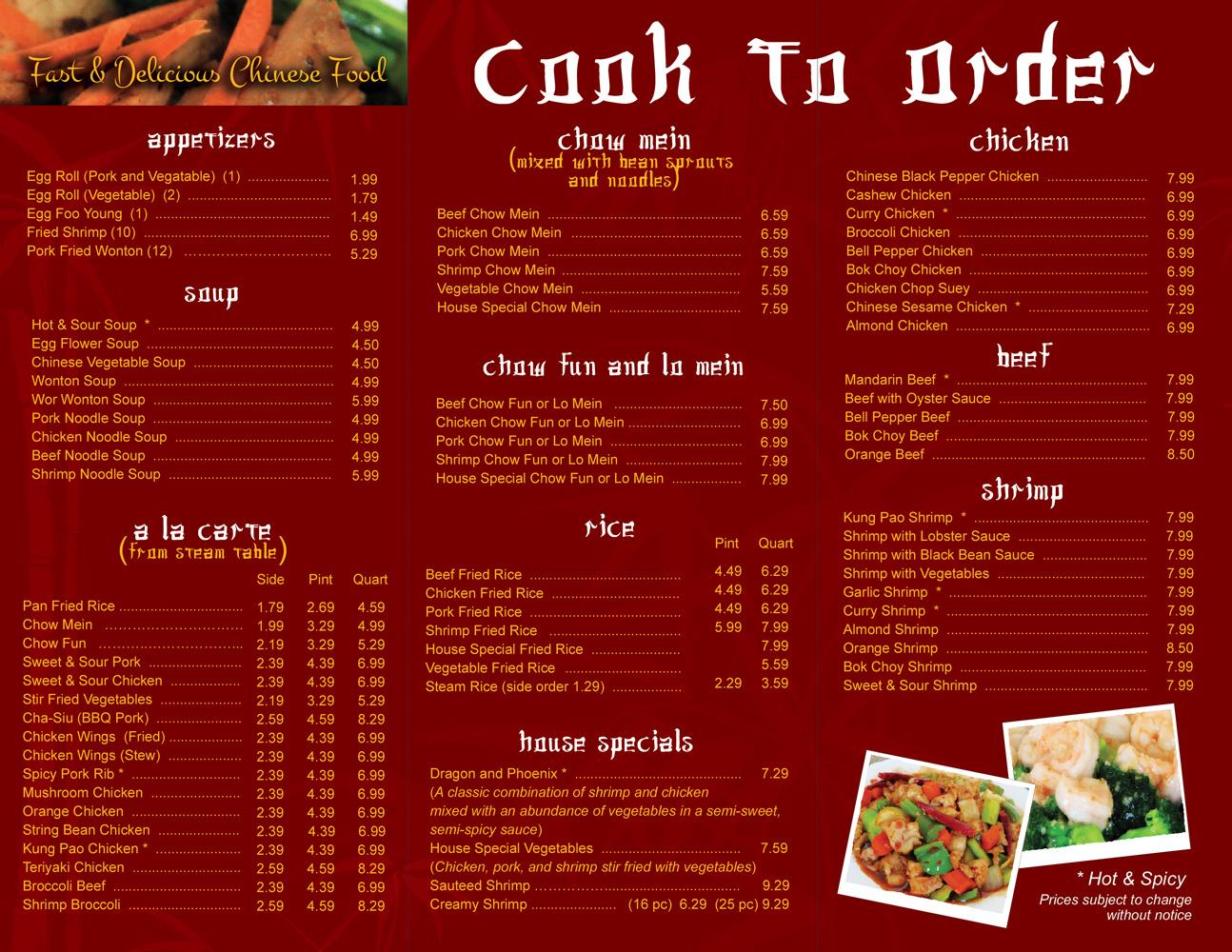 Elegant playful menu design for sandy zhen by ariana