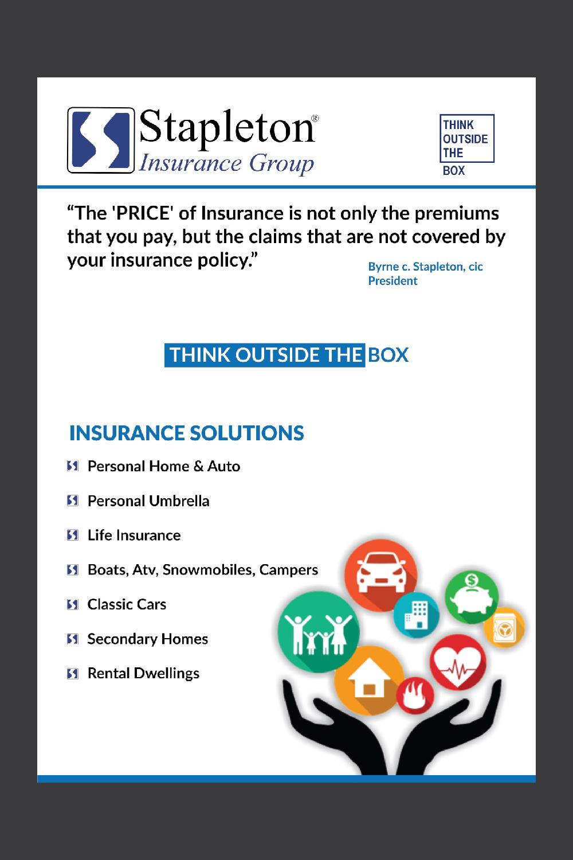 Modern, Upmarket, Insurance Flyer Design for Stapleton Insurance ...