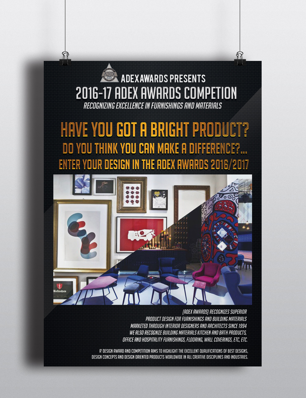 Poster design awards - Poster Design By Monoart Studio For Poster Banner Ad For Prestigious Product Design Awards Competition