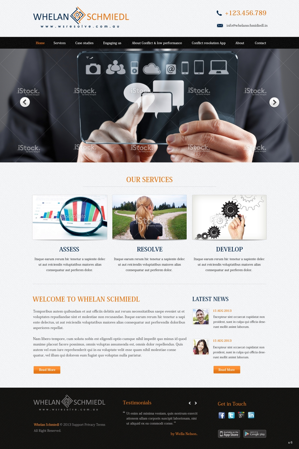 Elegant serious consulting web design for a company by for Web design consultant