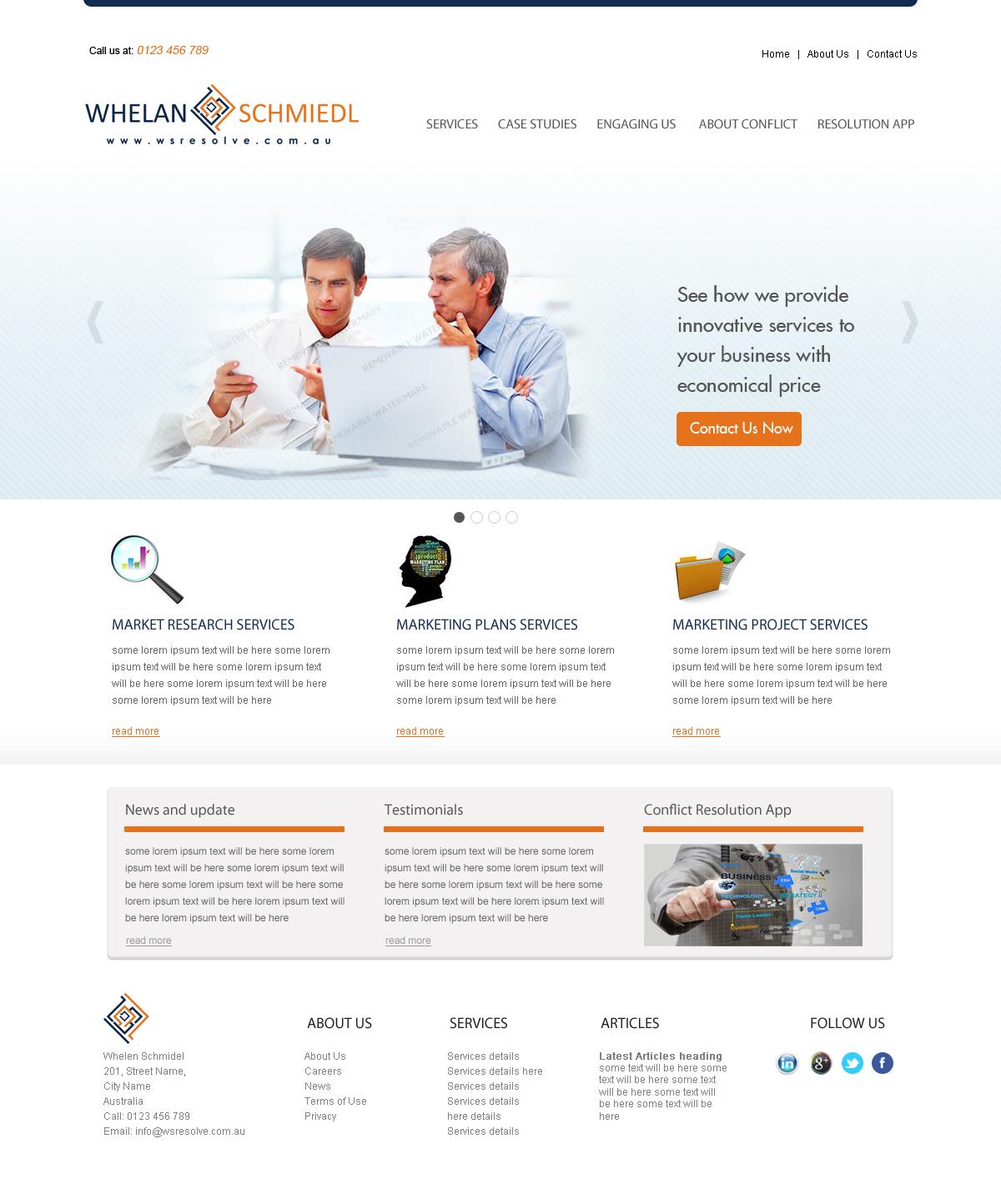 Elegant Serious Consulting Web Design For A Company By Sam Design 2386124