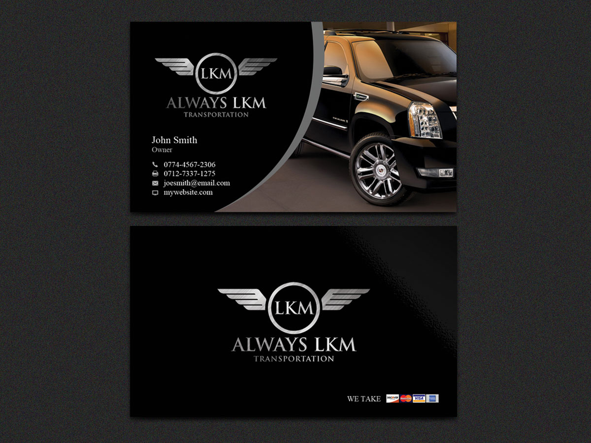 Masculine serious business card design for philip la russo by business card design by sandaruwan for black car limousine transportation business in naples florida design magicingreecefo Gallery