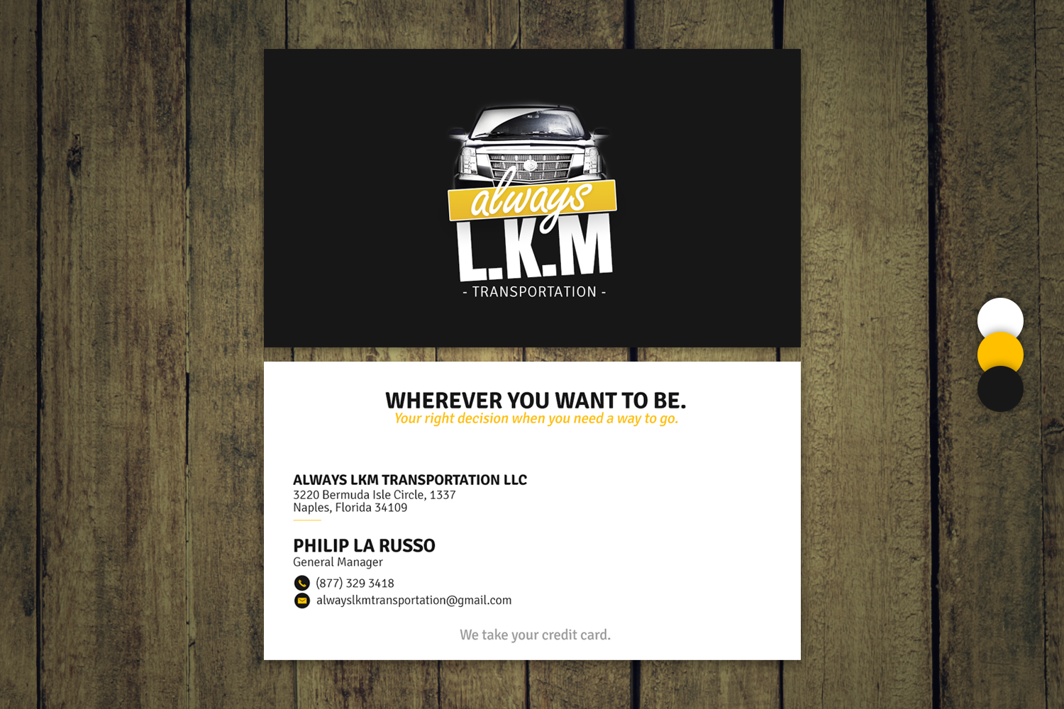 Masculine, Serious, Business Business Card Design for ALWAYS