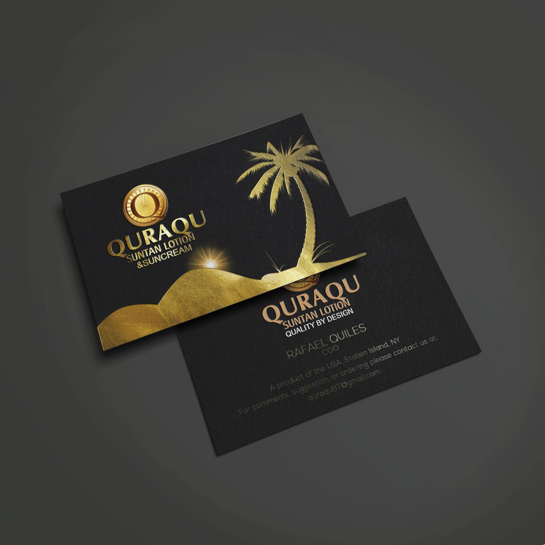 Serious upmarket business business card design for quraqu suntan business card design by riz for quraqu suntan lotion and sunscreen design 12227587 reheart Choice Image