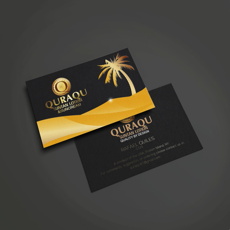 Serious upmarket business business card design for quraqu suntan business card design by riz for quraqu suntan lotion and sunscreen design 12259407 reheart Choice Image