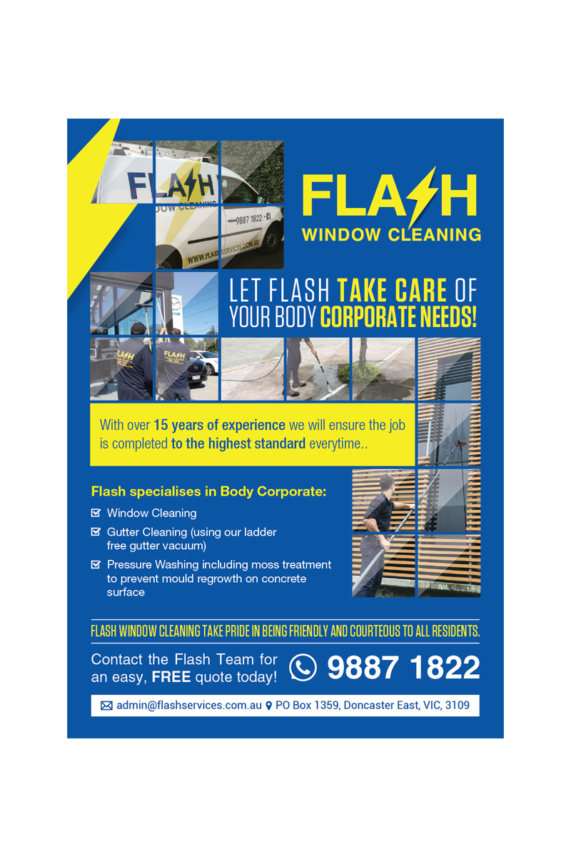 serious professional flyer design for yarraside window cleaning flyer design by nadhisa87 for window cleaning flyer targeting body corporates design 12253439
