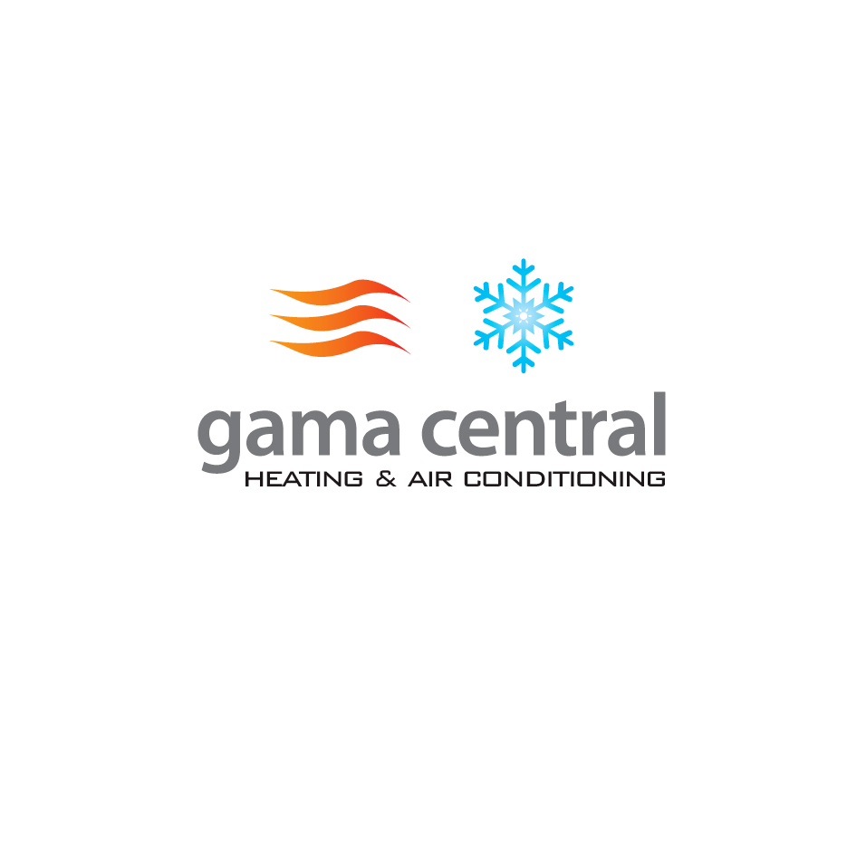 construction logo design for gama central heating & air conditioning