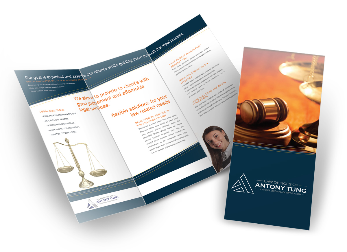 Elegant Professionell Brochure Design for Tony Tung by MediaGurus – Law Firm Brochure