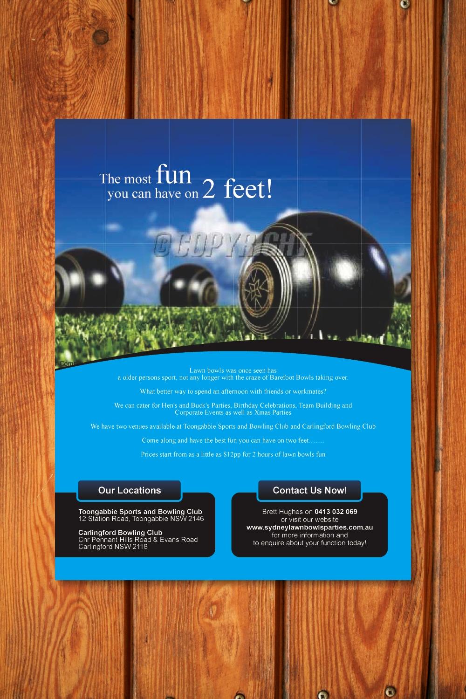 Elegant Playful Flyer Design Design For Sydney Lawn Bowls