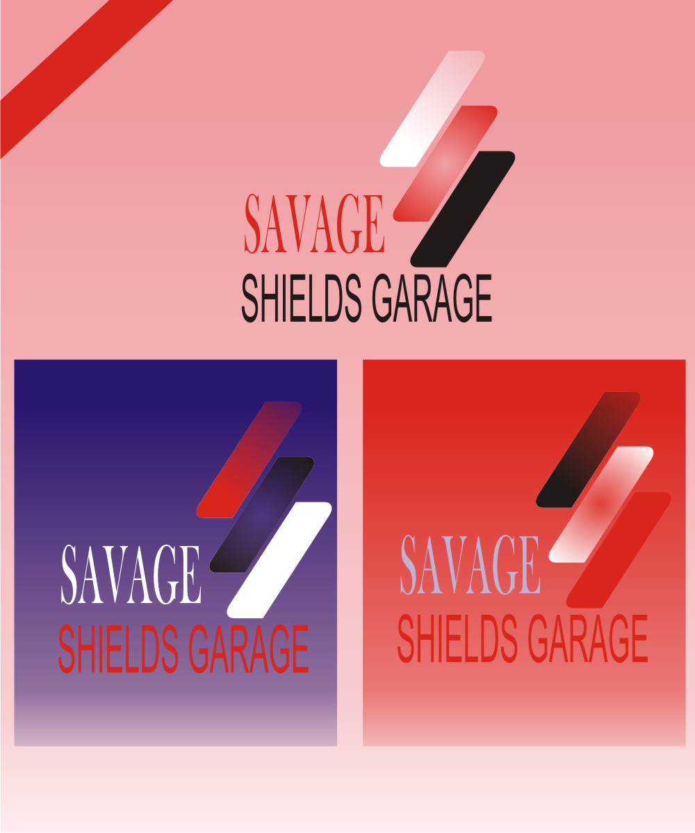Bold Playful Automotive Logo Design For Savage Shields Garage By
