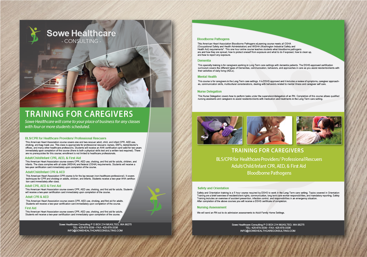 elegant playful healthcare flyer design for a company by alex989