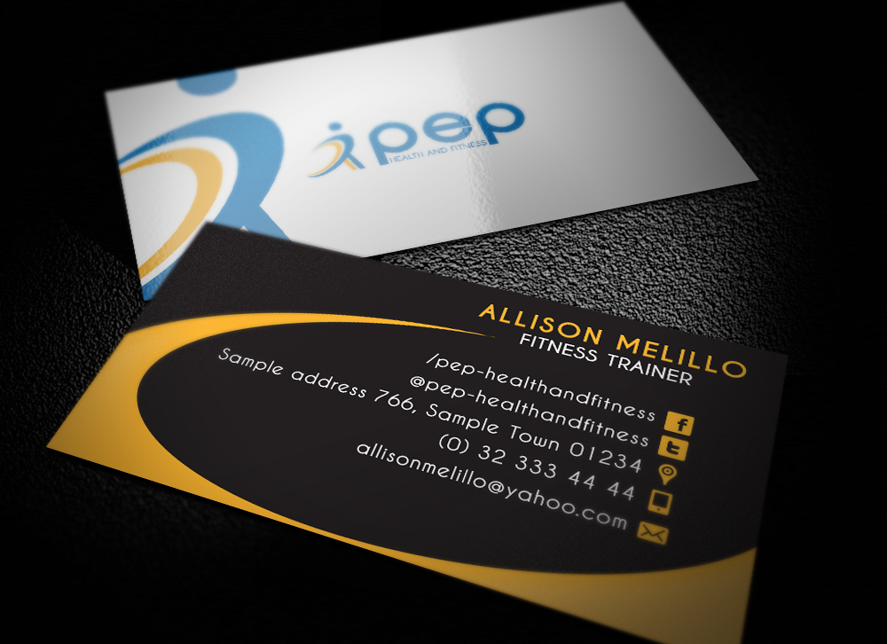 Elegant, Playful, Fitness Business Card Design for a Company by ...