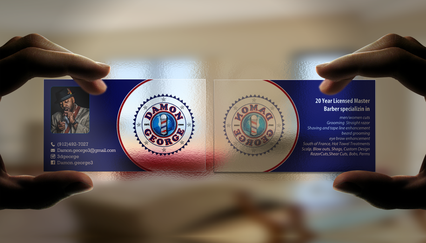 Barber Business Card Design For A Company By Chandrayaan Creative