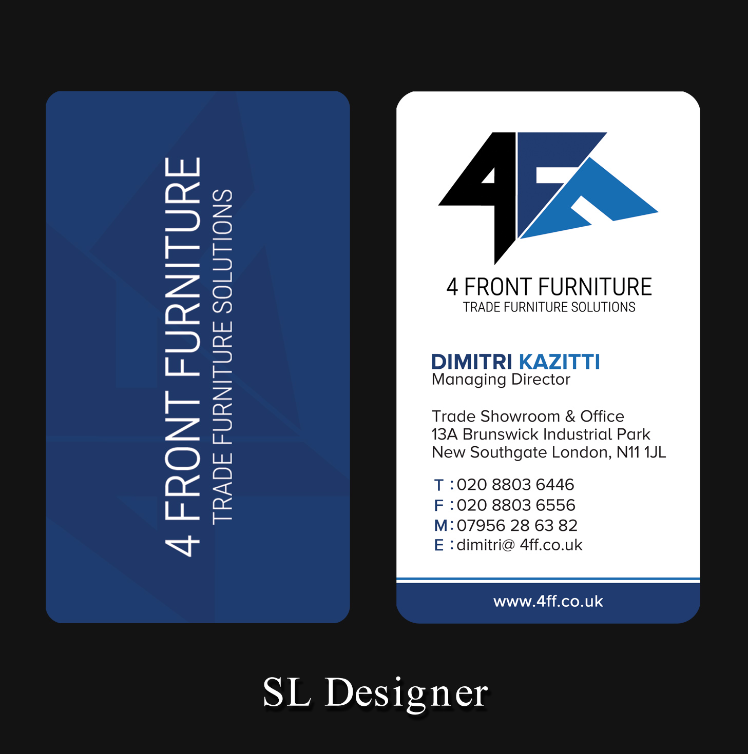 modern serious business card design for pamela kazitti by sl