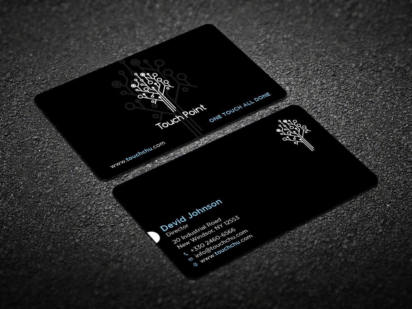 modern bold business card design for touch point by design