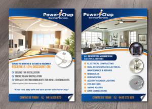 flyer design by alex989 for powerchap design 12286660