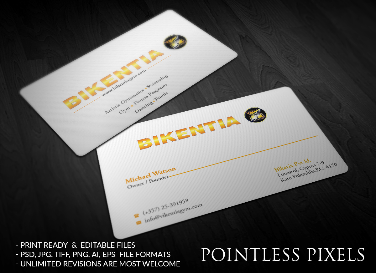 Playful modern business business card design for a company by business card design by pointless pixels india for this project design 12372317 reheart Image collections