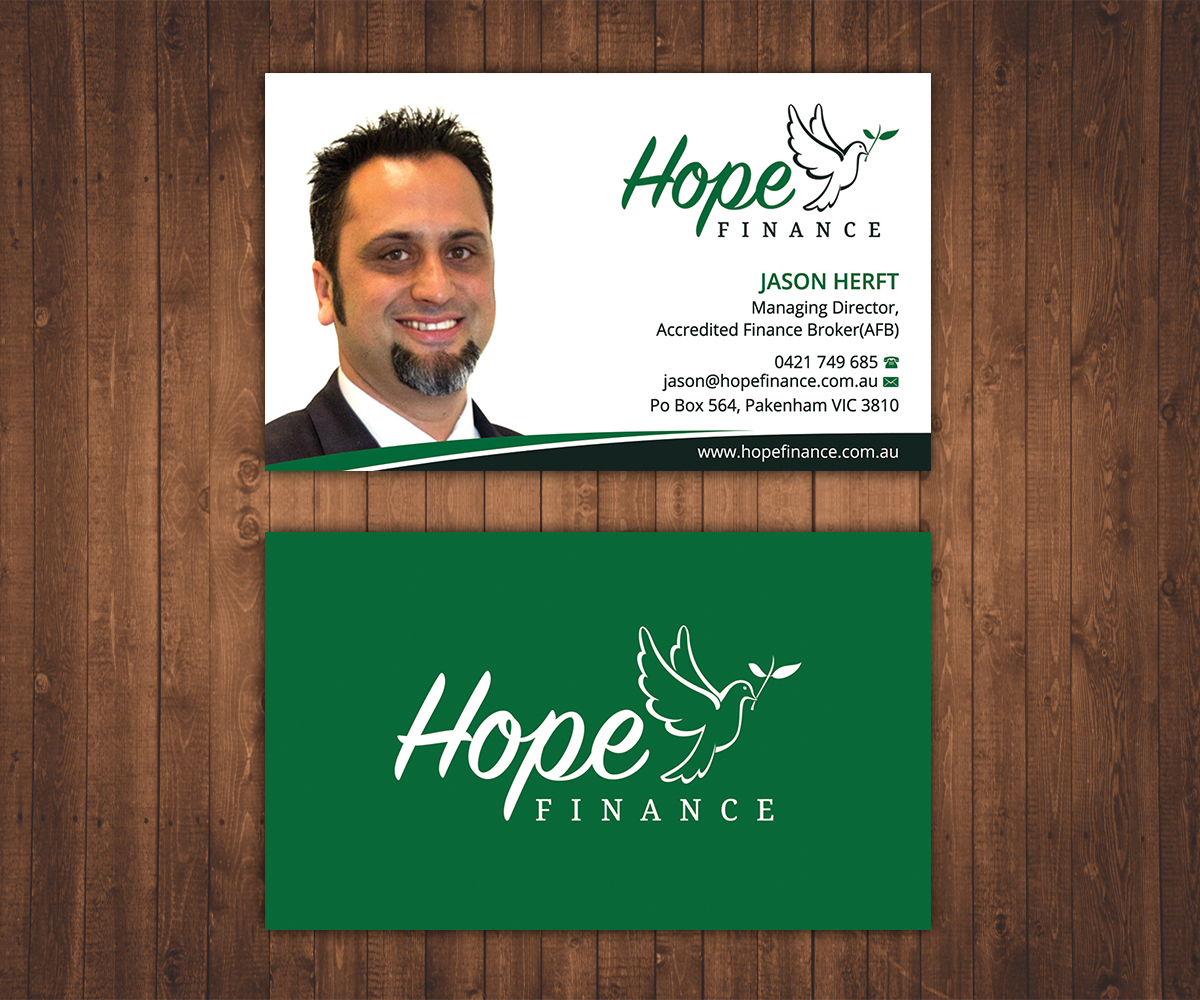 Colorful, Elegant Business Card Design for Hope Finance by Stylez ...
