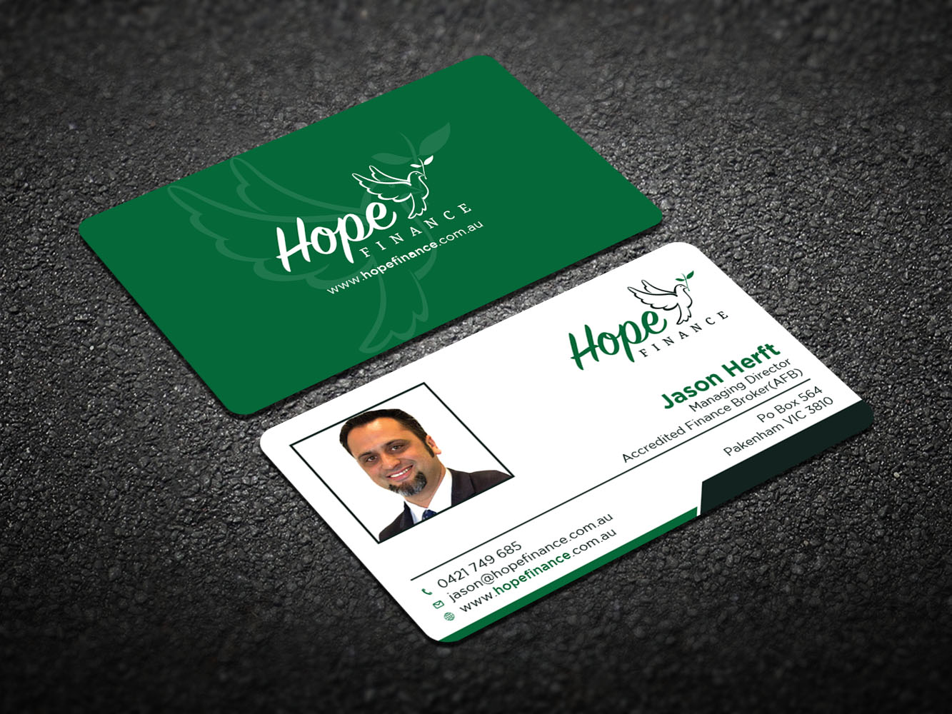 Colorful, Elegant Business Card Design for Hope Finance by ...