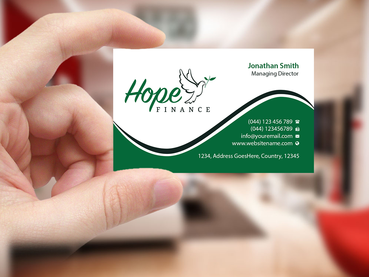 Colorful, Elegant, Finance Business Card Design for Hope Finance by ...