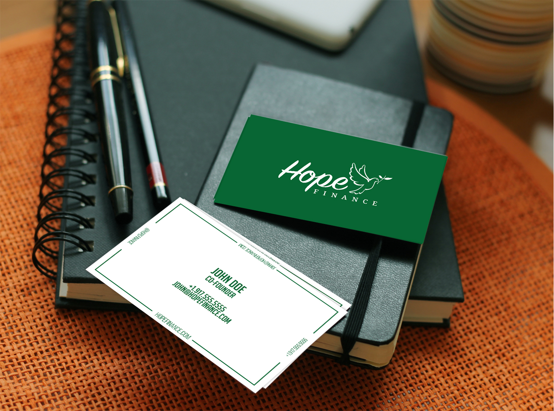 Colorful, Elegant Business Card Design for Hope Finance by Blu ...