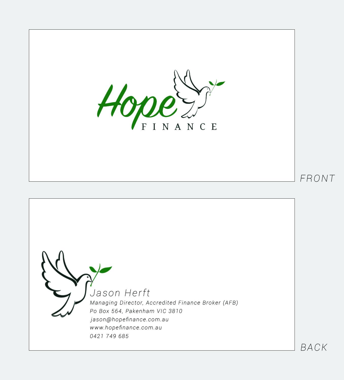 Colorful elegant finance business card design for hope finance by business card design by courtneyrosef for hope finance design 12396188 reheart Images