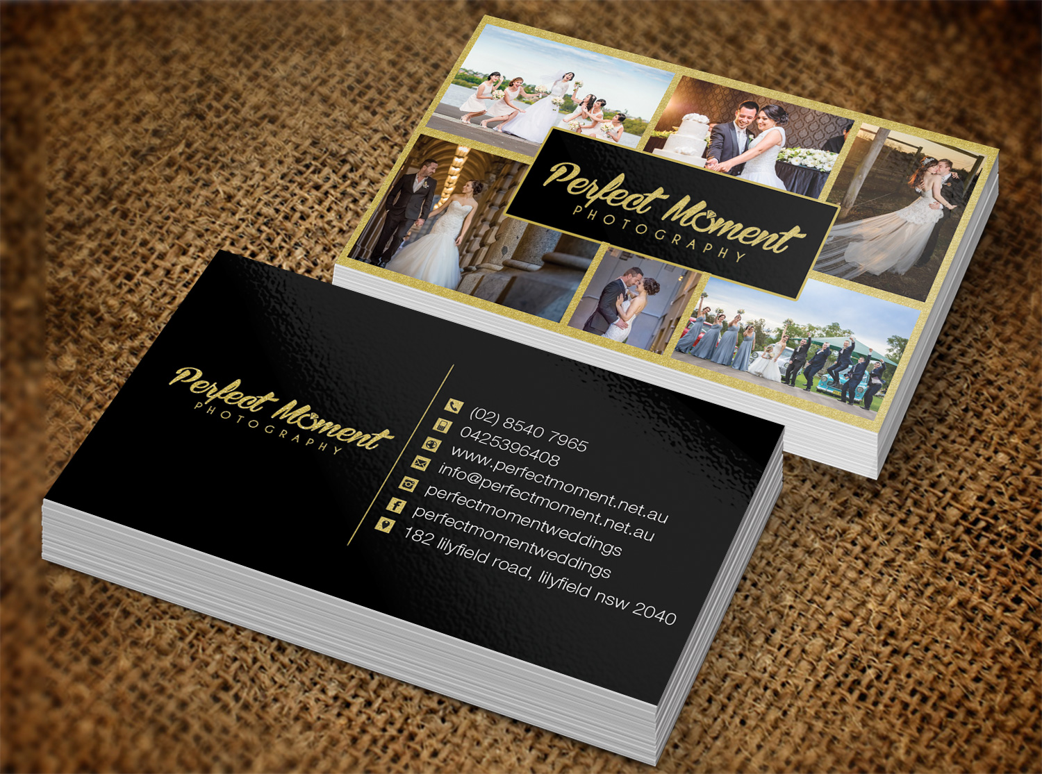 Serious modern wedding photography business card design for new business card design by pawana designs for new stage media pty ltd design reheart Choice Image